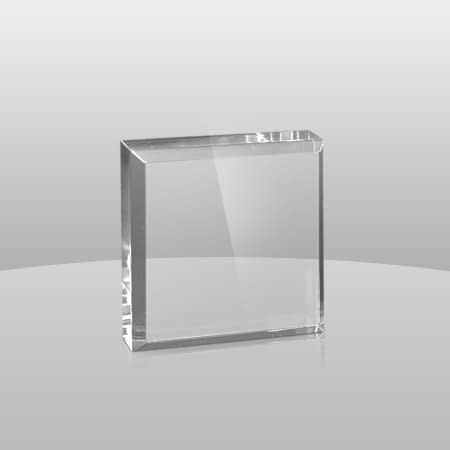 Clear Square Paperweights | CSPW2, CSPW3, CSPW4