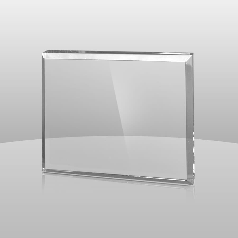 Clear Rectangular Paperweights   CRPW54, CRPW43